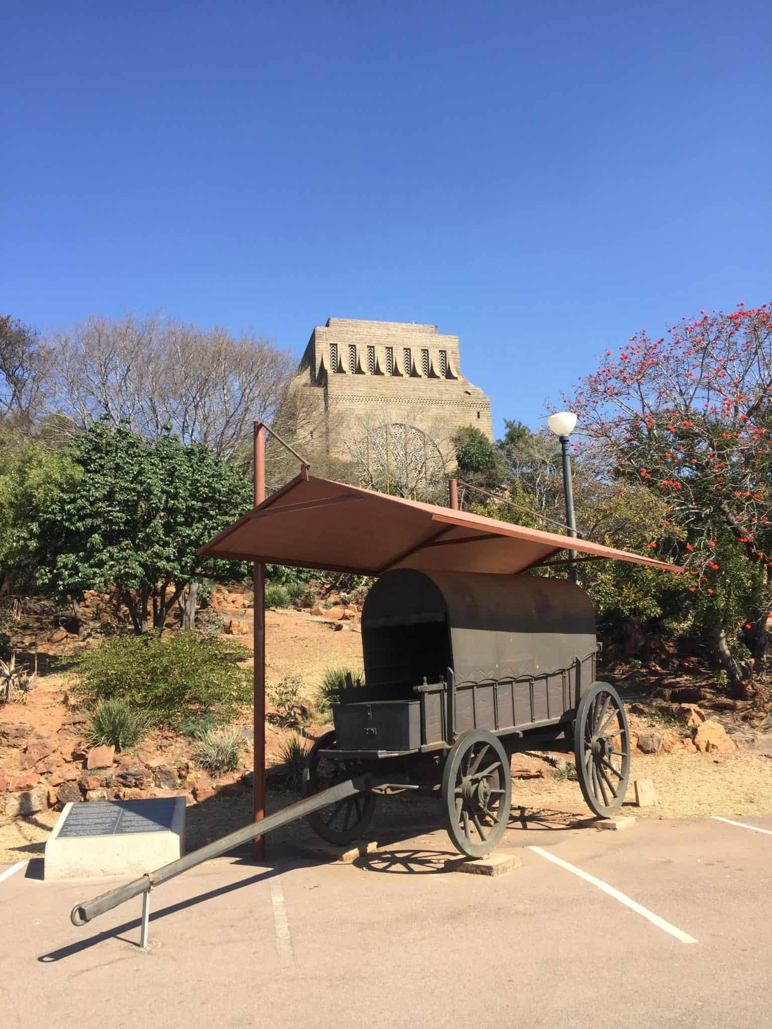 Ox Wagon in front of the Voortrekker Monument