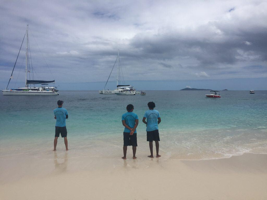 Cousin Island - Waiting for the boats