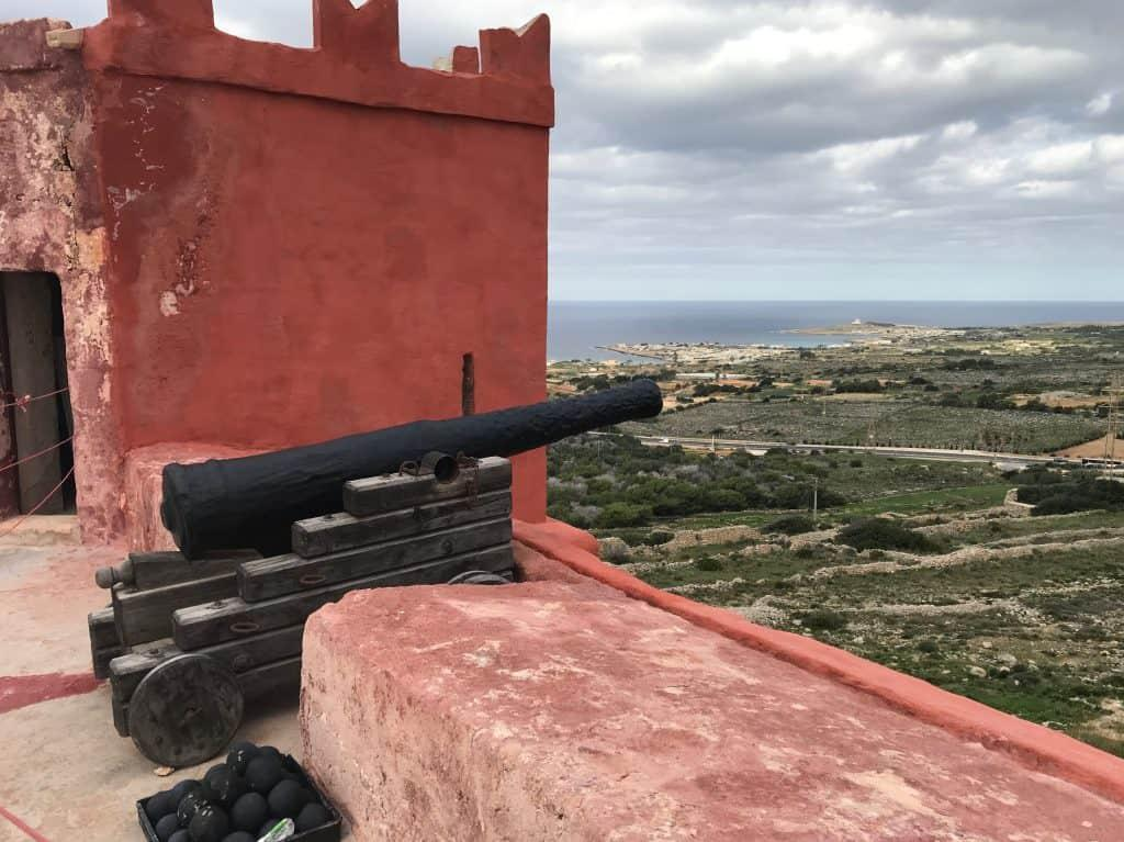 Roof of the Red Tower Malta