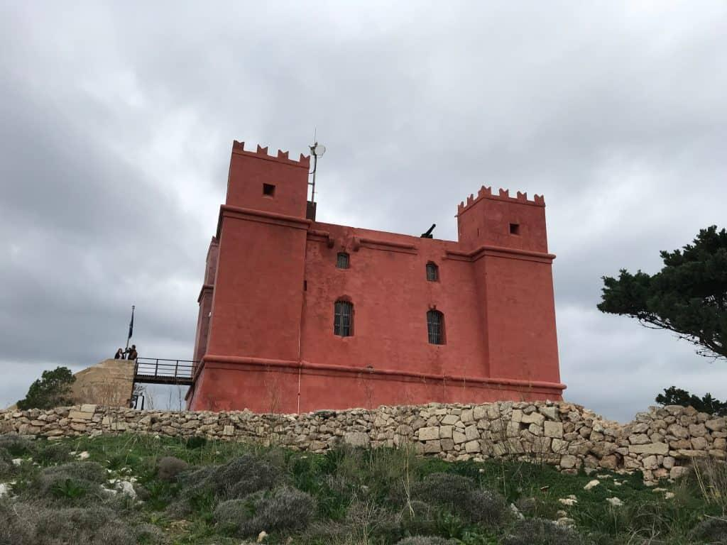 Red Tower from below