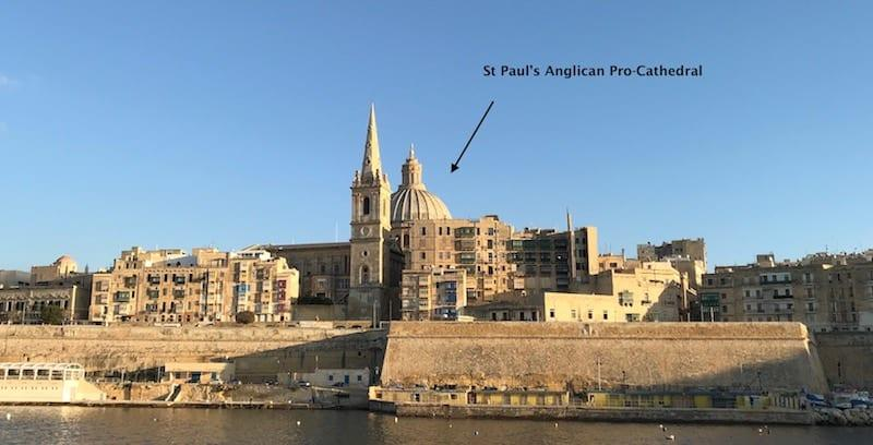Valletta Skyline - St Paul's Anglican Pro-Cathedral