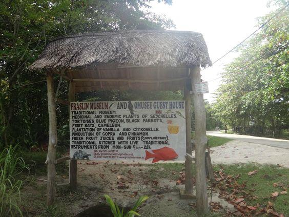 Praslin Museum - Entrance Sign