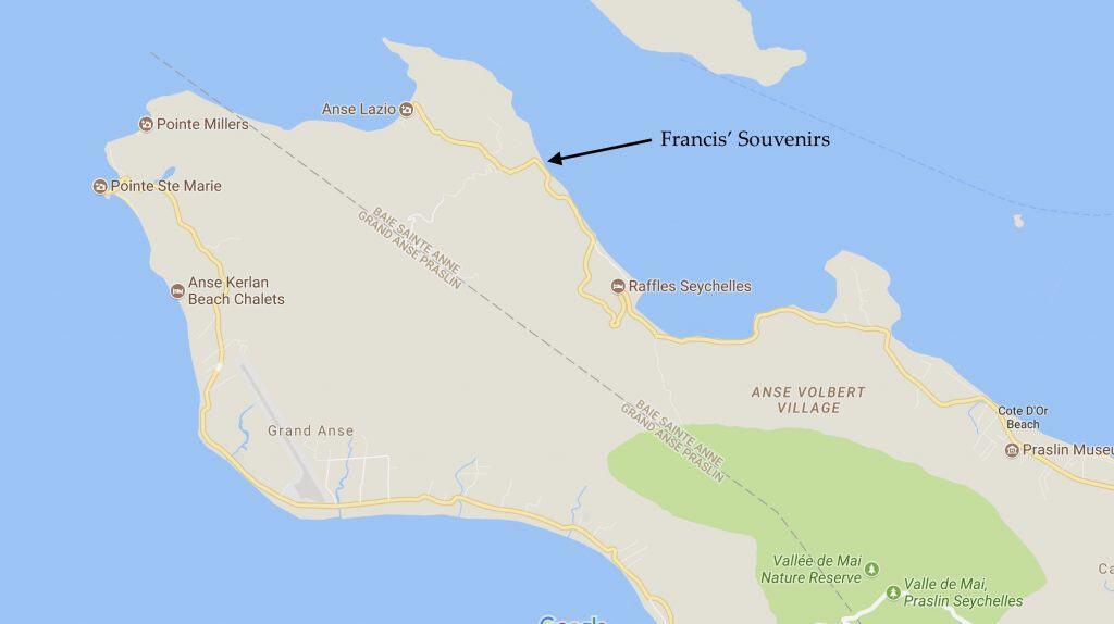 Francis' Souvenirs - Map