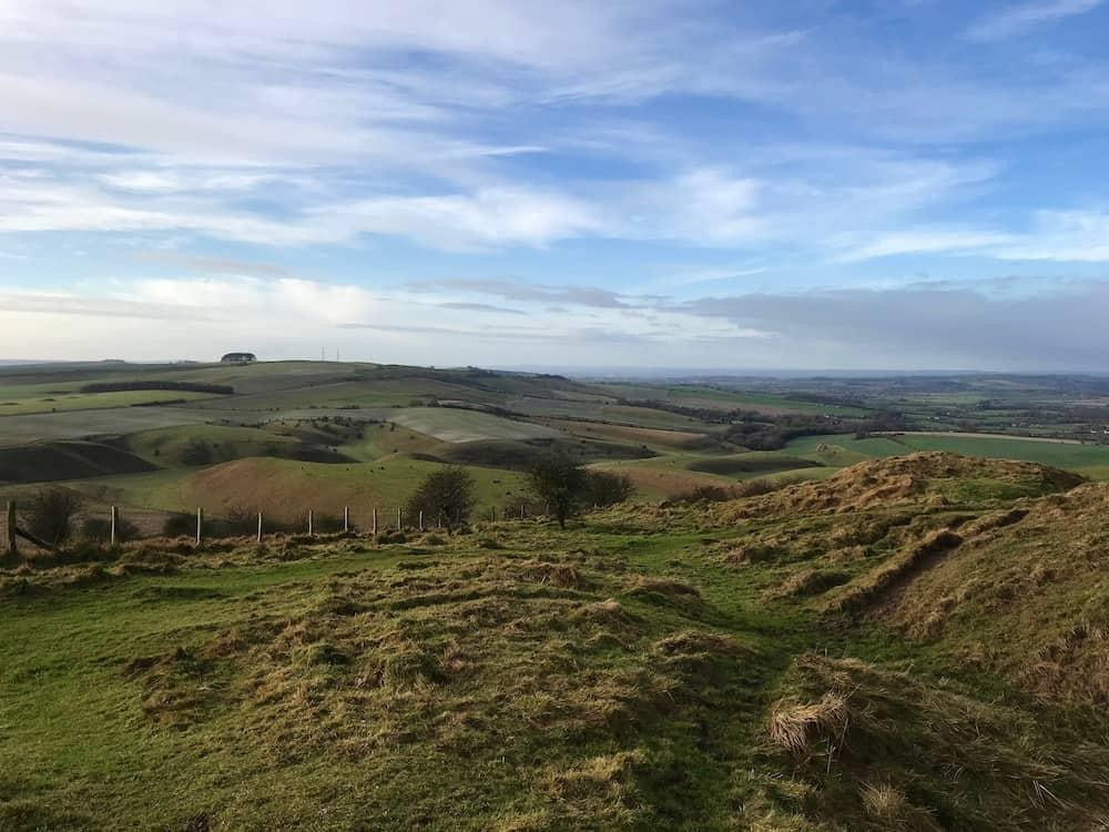 View from the Cherhill Downs near the Lansdowne Monument