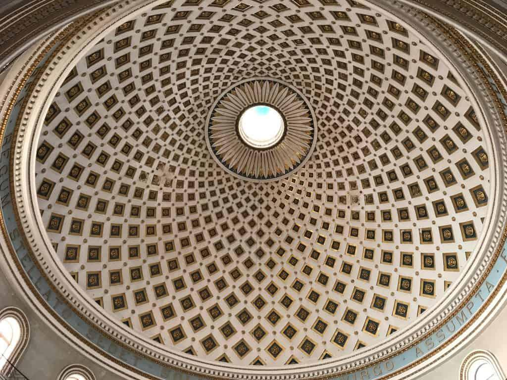 Rotunda of Mosta Ceiling