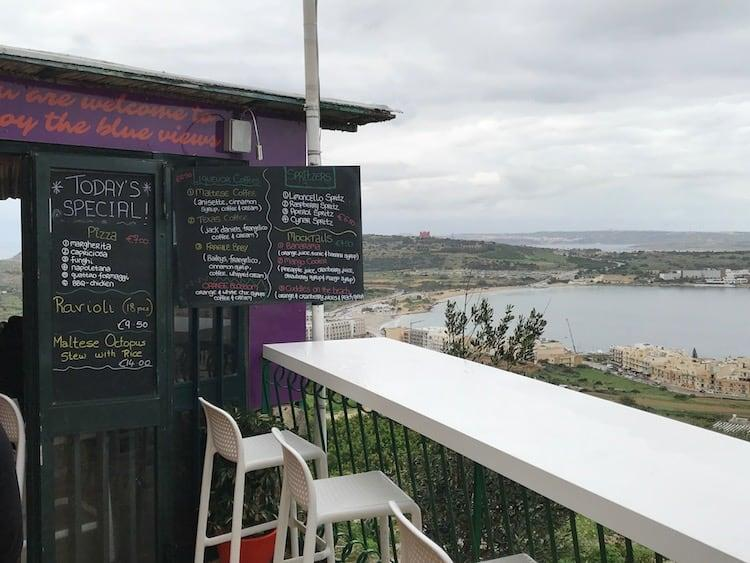 Amazing views from sea view cafe, Melleiha (despite the weather!)