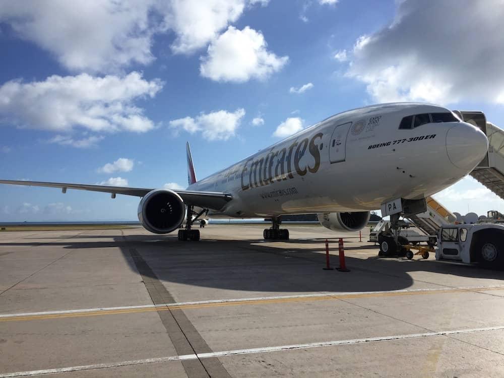 Emirates flight from Seychelles