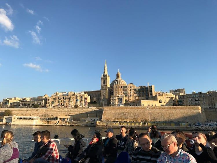Sliema to Valletta Ferry -> one of many things to do in Valletta in a day