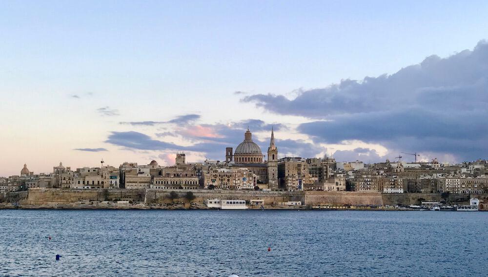 An image of Valletta, the capital city of Malta