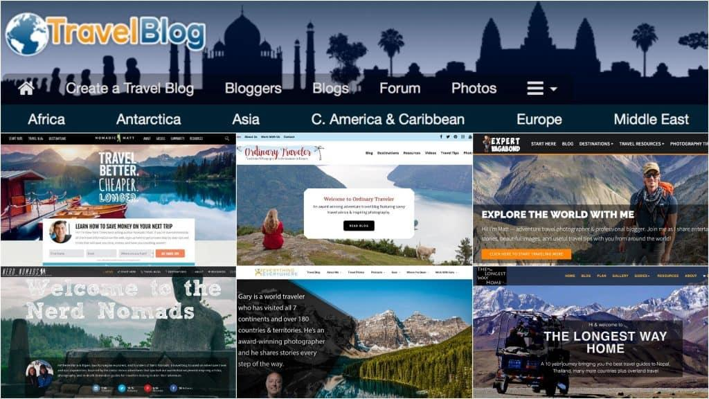 Travel Blog Homepage Collage