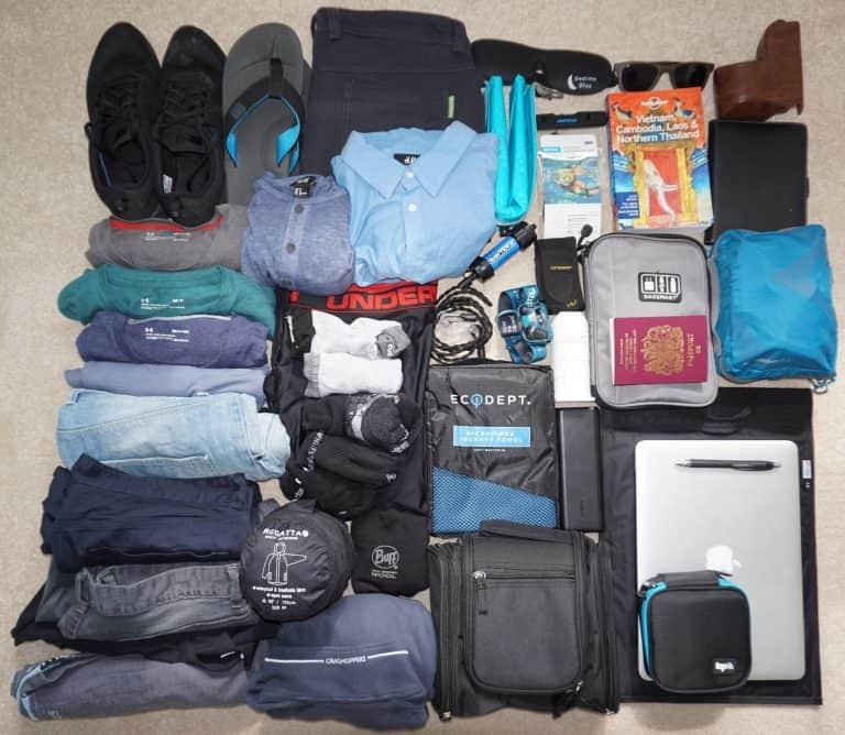 Detailed Packing List for Southeast Asia (M & F)