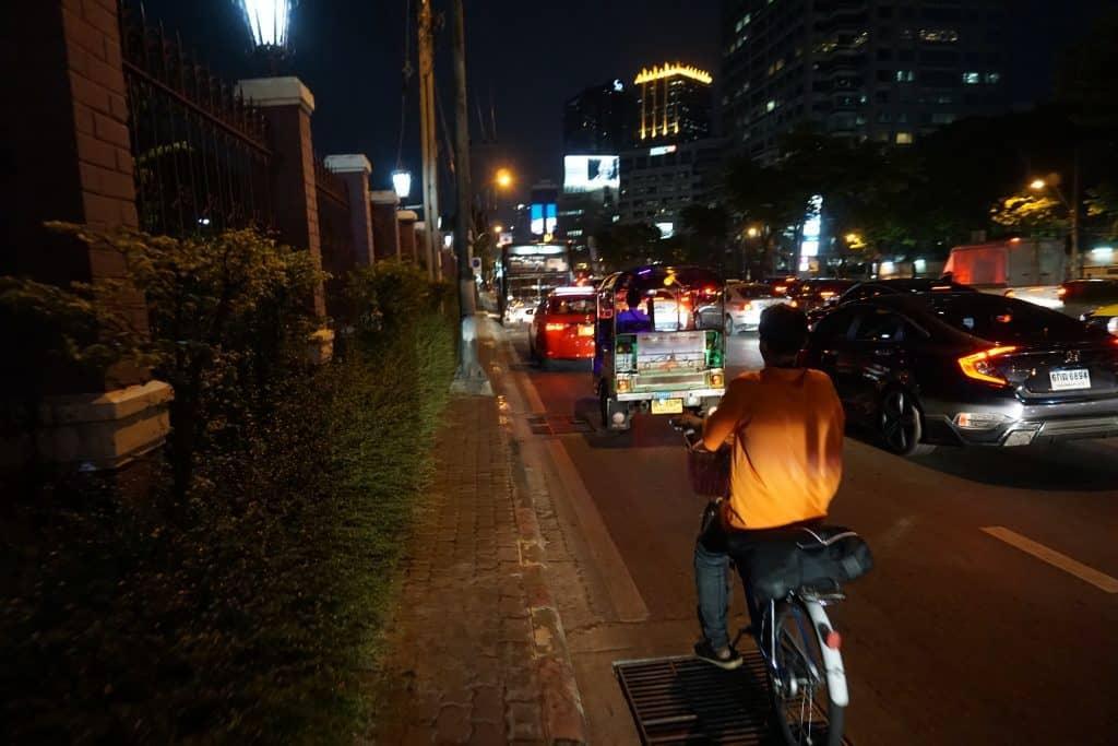 Traffic by Lumphini Park entrance