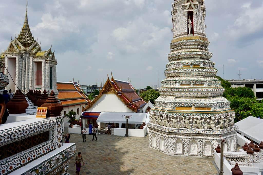 View from one of the prangs at Wat Arun