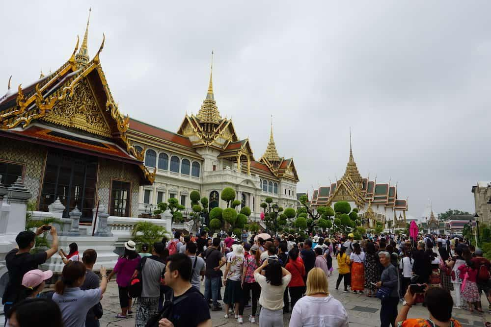 Crowded Bangkok Grand Palace