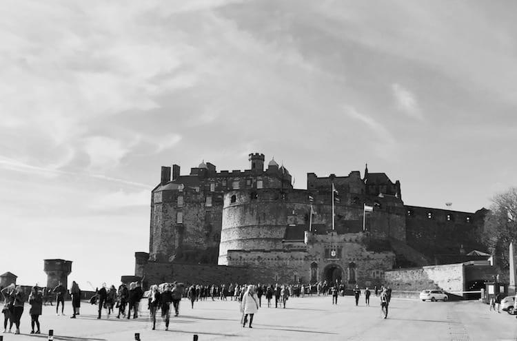 View of Edinburgh Castle from the Entrance