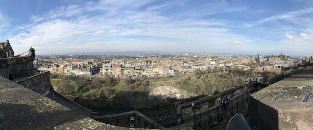 Edinburgh New Town from the castle