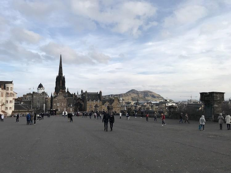 Looking back towards the entrance of Edinburgh Castle