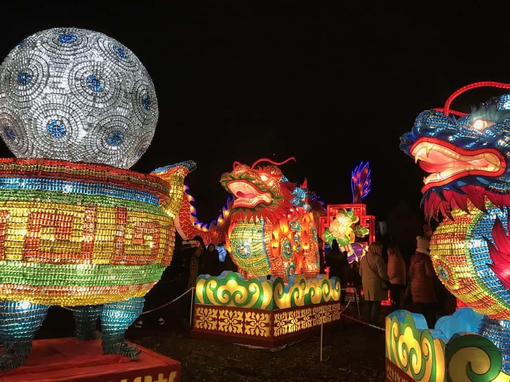 Giant Lanterns of China at Edinburgh Zoo - Dragons