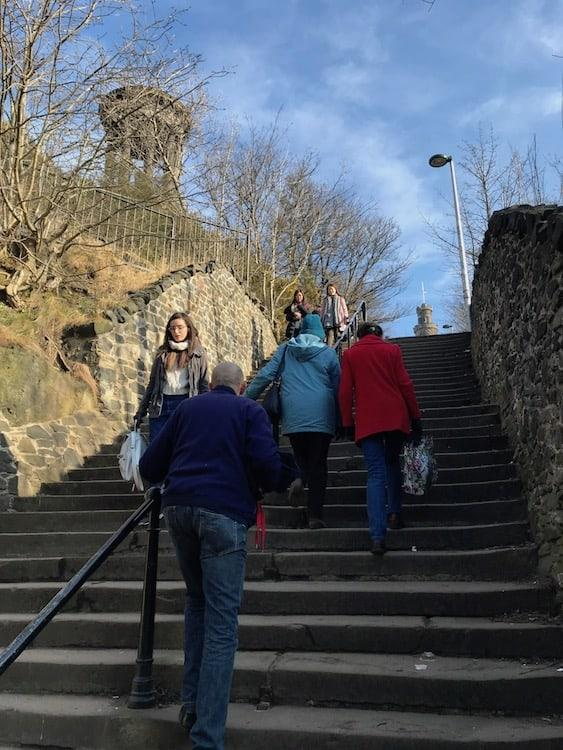 Stone stairs to Calton Hill