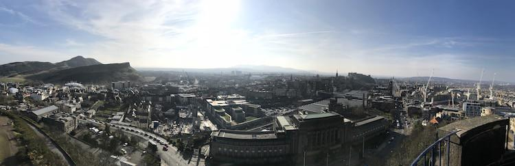 Panoramic view of Edinburgh from Calton Hill