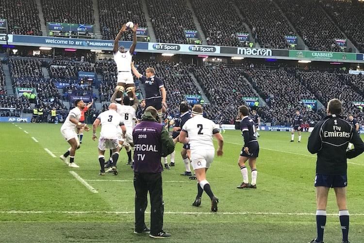 Murrayfield, Itoje taking line out