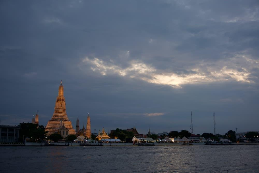 Wat Arun in Twilight one of the best places to see a sunset in Bangkok