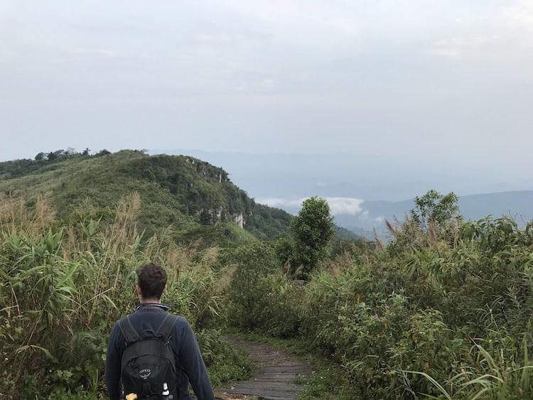 Climbing Phu Chi Fa