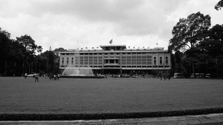 B&W Photo Tour of the Reunification Palace, Ho Chi Minh City
