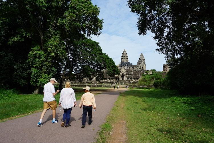 Temples of Angkor: Entering Angkor Wat from the Eastern Side