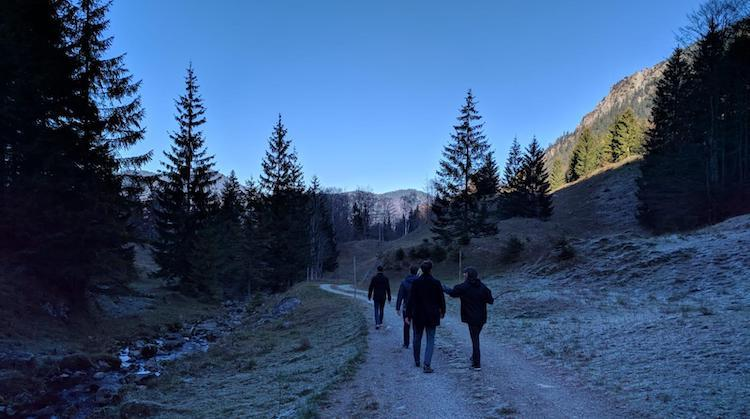Frosty hike near Schliersee