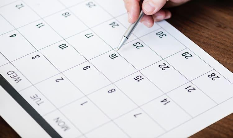 Using a calendar to plan out a sabbatical