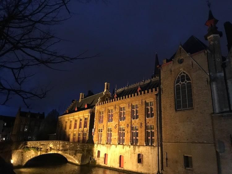 Bruges at night, part of a 3 day itinerary