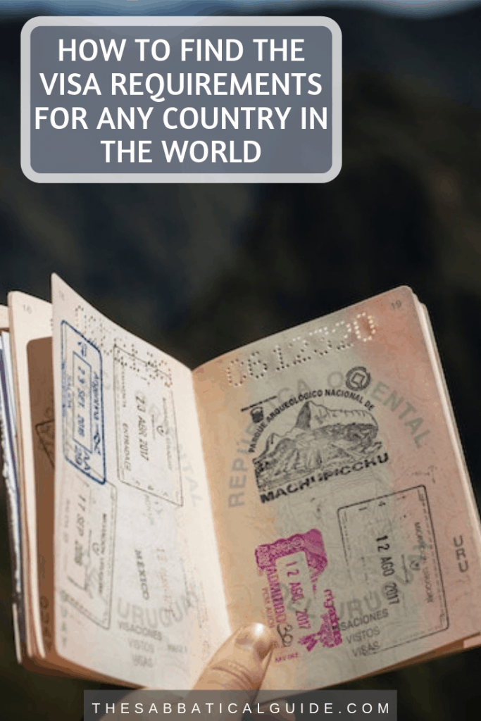 How to find the visa requirements for any country in the world Pin