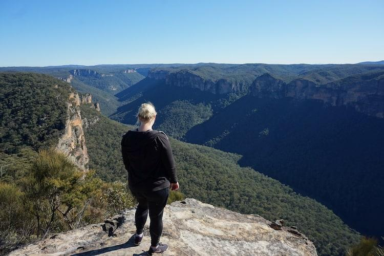 The view from Anvil Rock Lookout in the Blue Mountains