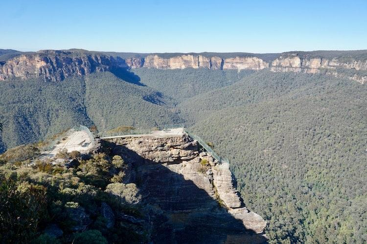 Viewing platforms at Pulpit Rock Lookout, Blue Mountains