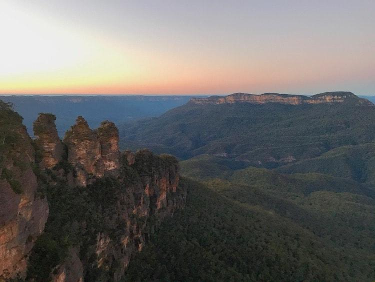 Three sister in the Blue mountains at sunrise