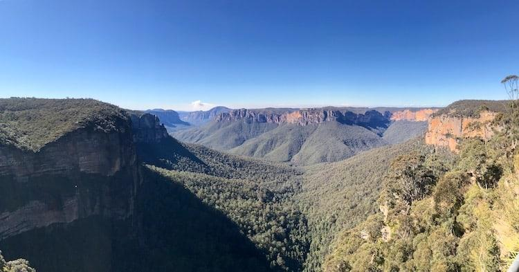 The view from Govetts Leap Lookout
