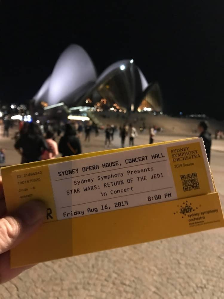 Tickets to see Star Wars at the Sydney Opera House