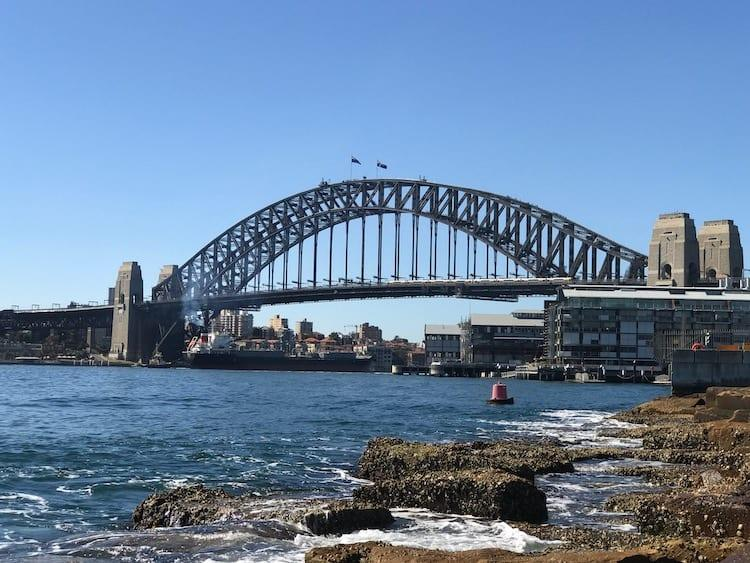 Sydney Harbour Bridge from Barangaroo Reserve