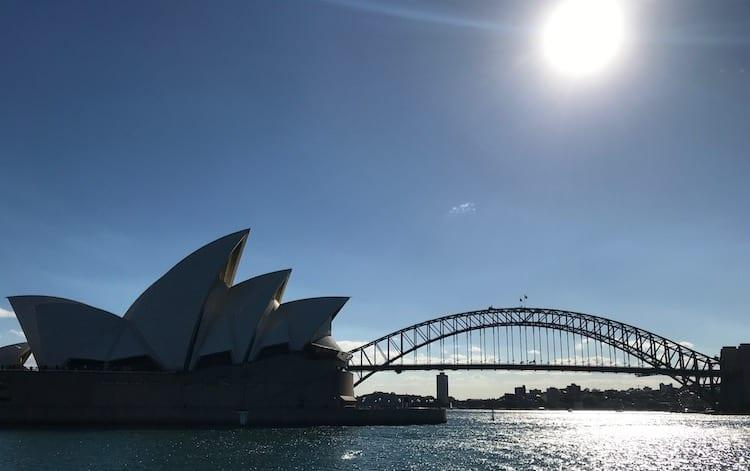 Sydney Opera House and Harbour Bridge from Captain Cook cruise