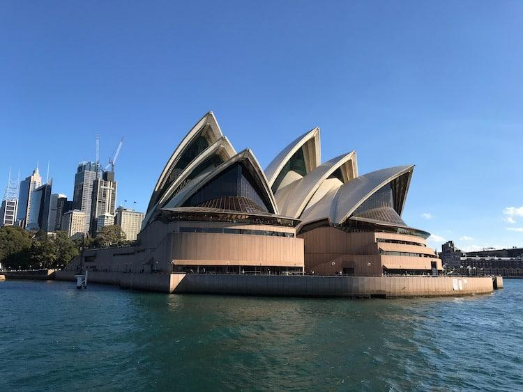 Sydney Opera House from a. Captain Cook Cruise