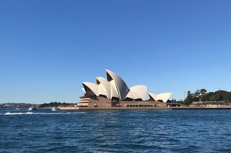 Sydney Opera House in the sunshine