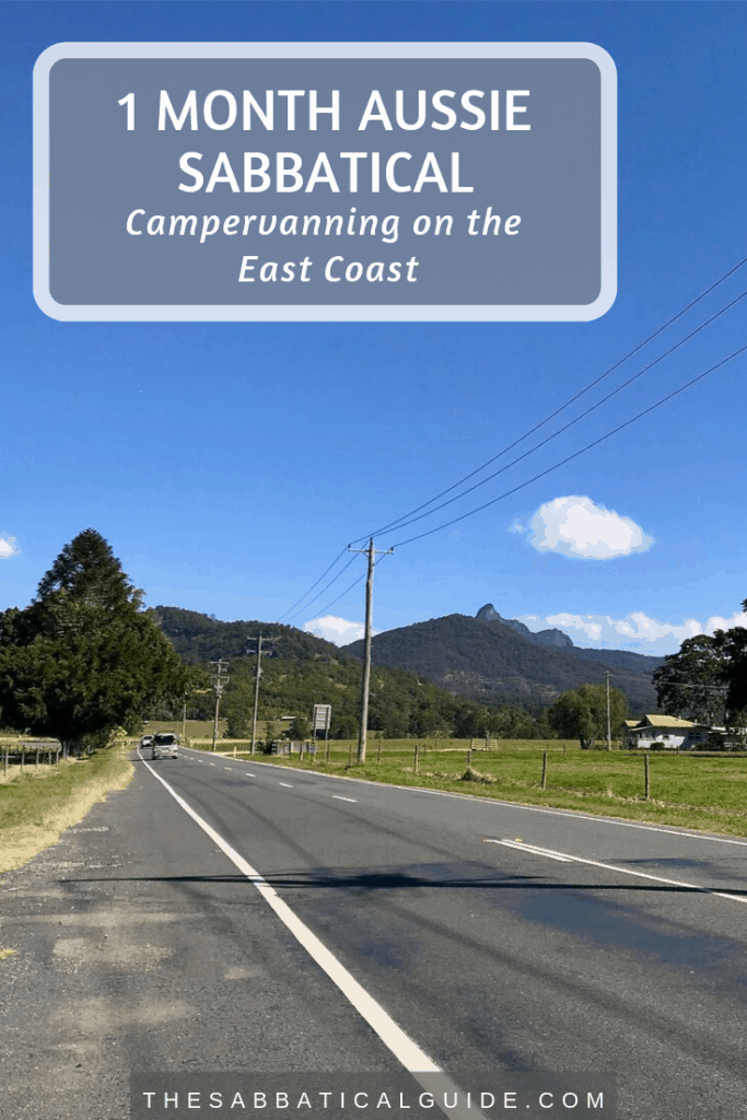 A photo showing a road leading to a mountain range in Australia's East Coast