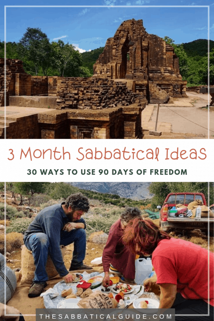 21 ideas for how to use a 3 month sabbatical or career break. They include taking 3 months to go backpacking, using the Workaway scheme, volunteering on a Kibutz and overloading in Africa.