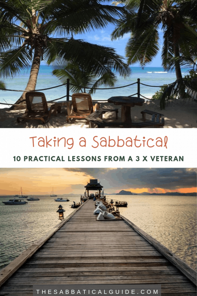 Taking a sabbatical can be a daunting experience if you're doing it for the first time. There is no better way to learn about the benefits and some handy tips than to hear from someone who's taken a sabbatical before. Here are 10 lessons on taking a sabbatical from Bridget who has taken 3!