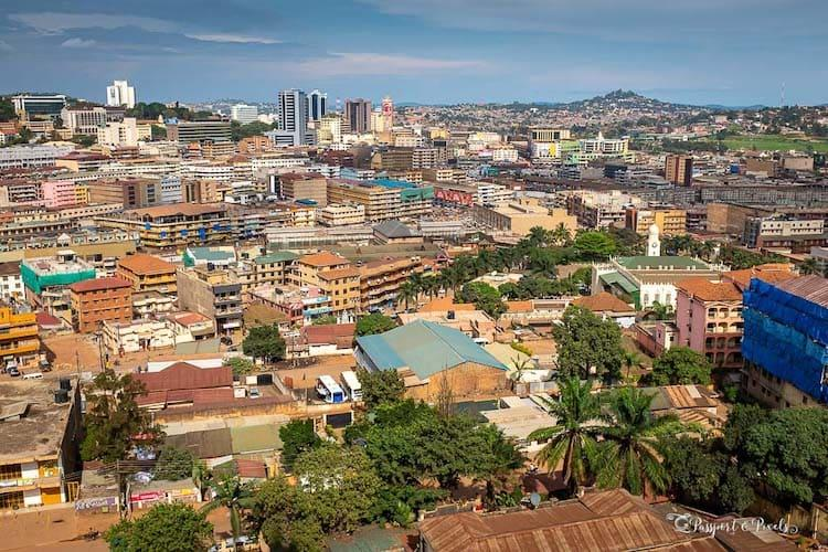 A rooftop photo go Kampala in Uganda