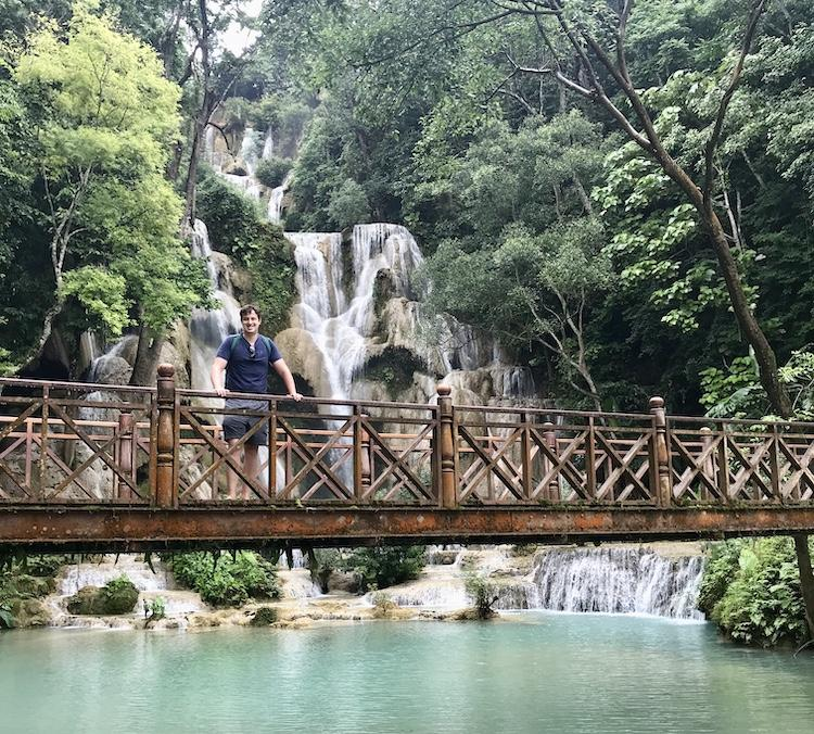 The bridge in from of Kuang Si Falls