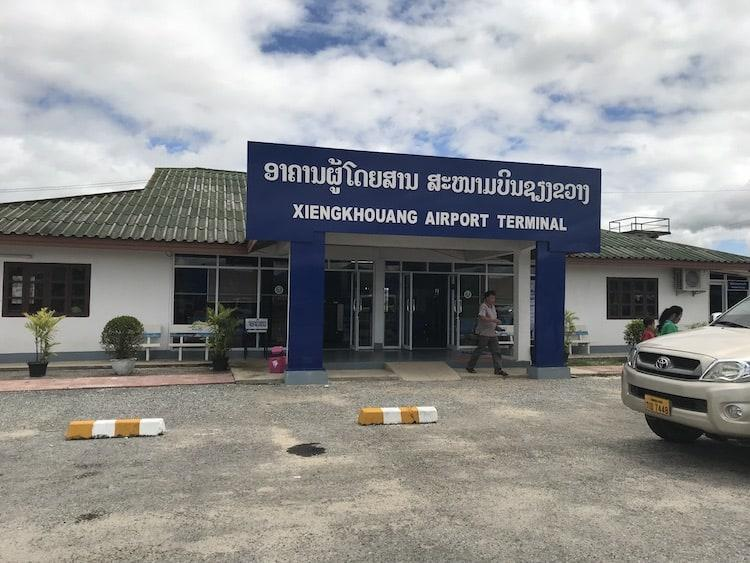 The outside of the terminal building of Vieng Khouang Airport