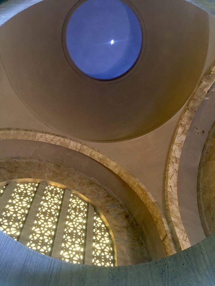A small hole letting light in in a giant dome ceiling. 16th December, Voortrekker Monument