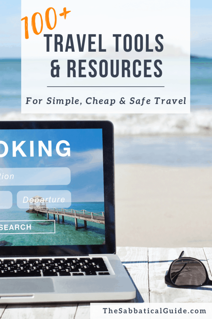 Travel Tools and Resources Pin for Pinterest